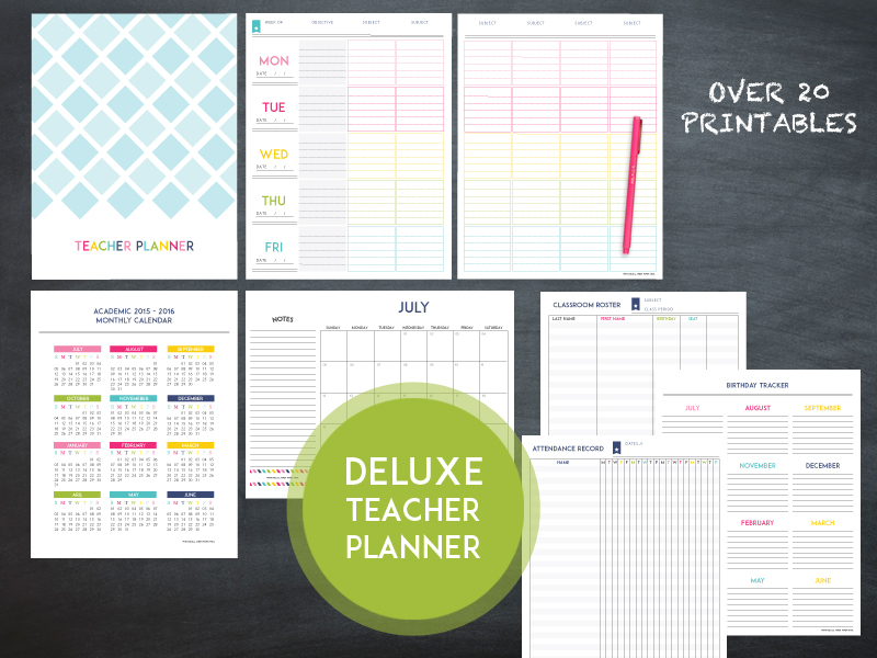 The 2016 2017 Deluxe Teacher Planner Sweet Paper Trail