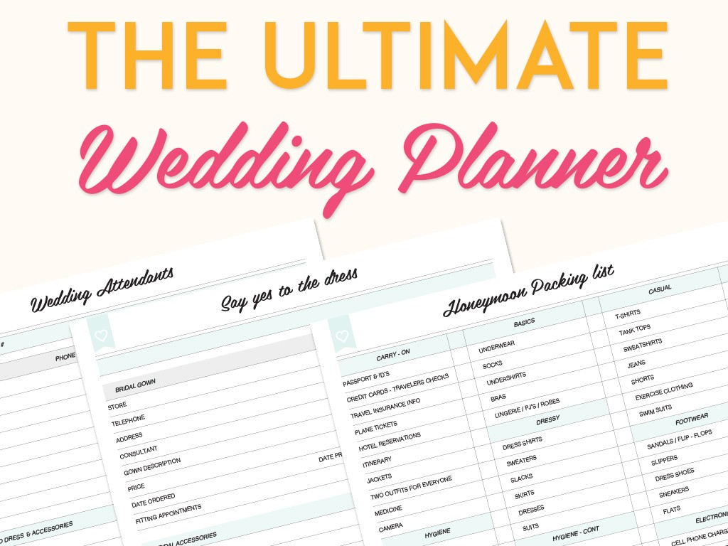 The Ultimate Wedding Planner is now available as an Instant download ...