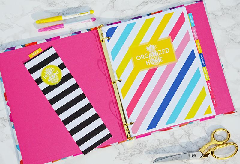 Home management binder household binder sweet paper trail for Home planning binder