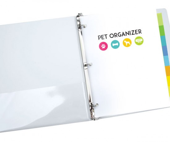 pet organizer - healthy pet printables