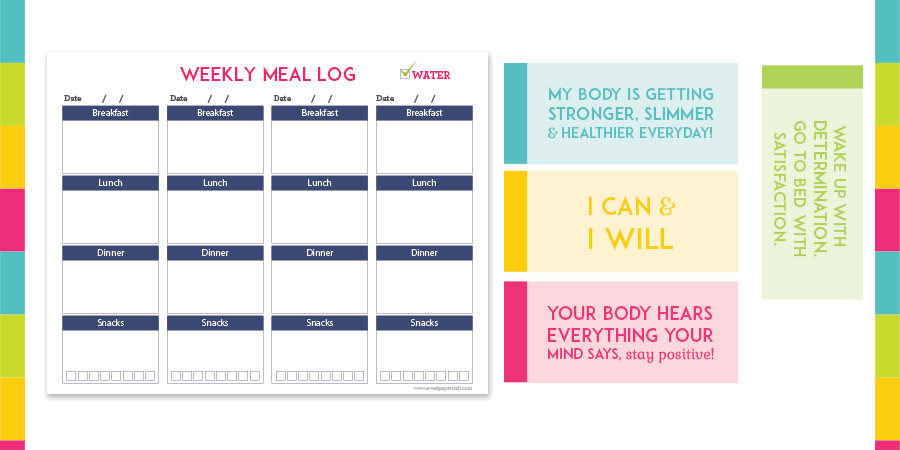 picture relating to Fitness Printables named health printables - Lovable Paper Path