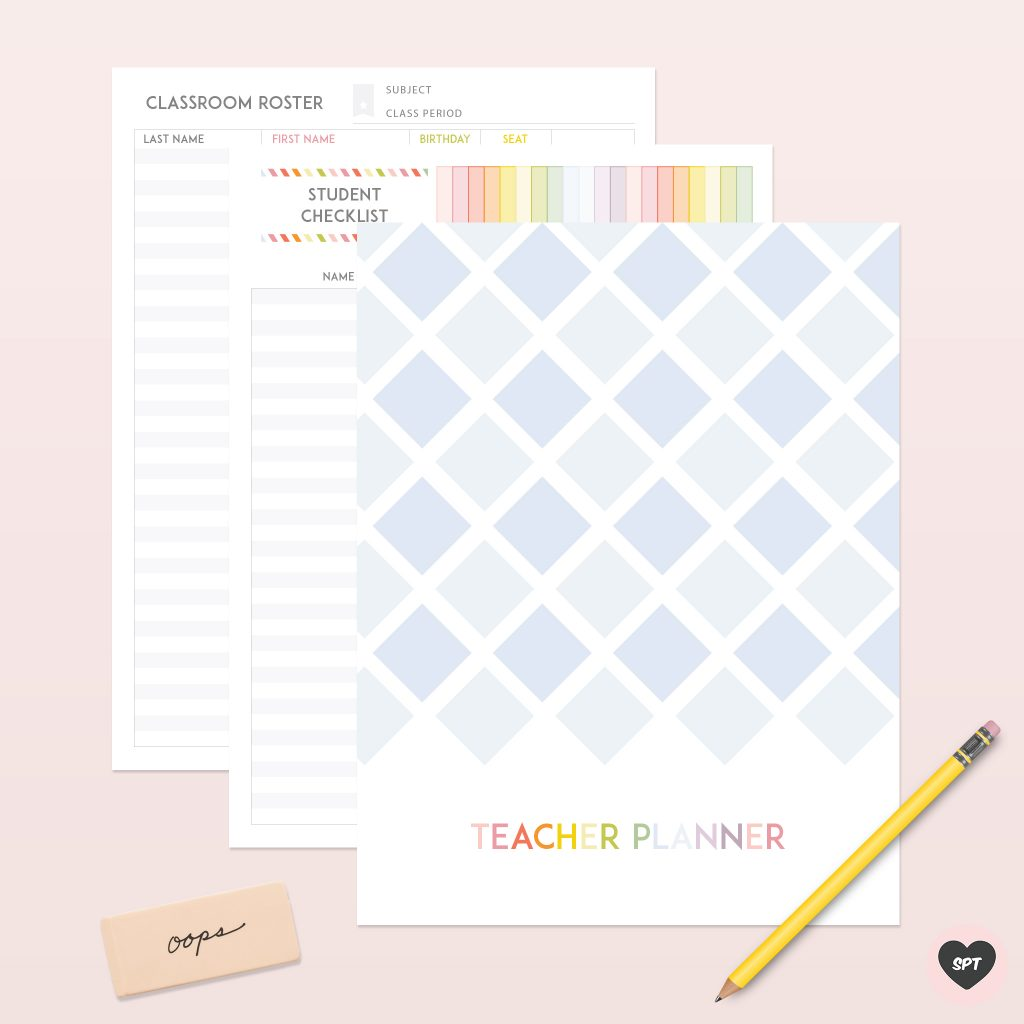 photo relating to Printable Teacher Planner named Clean 2019 - 2020 Electronic Trainer Planner - Lovable Paper Path